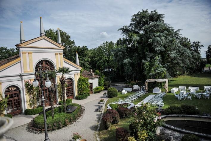 Villa Selmi Polesella e il matrimonio abbia inizio
